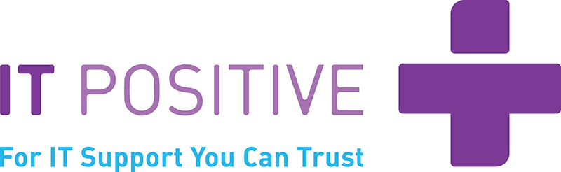 Rectangle IT Positive logo with white background.